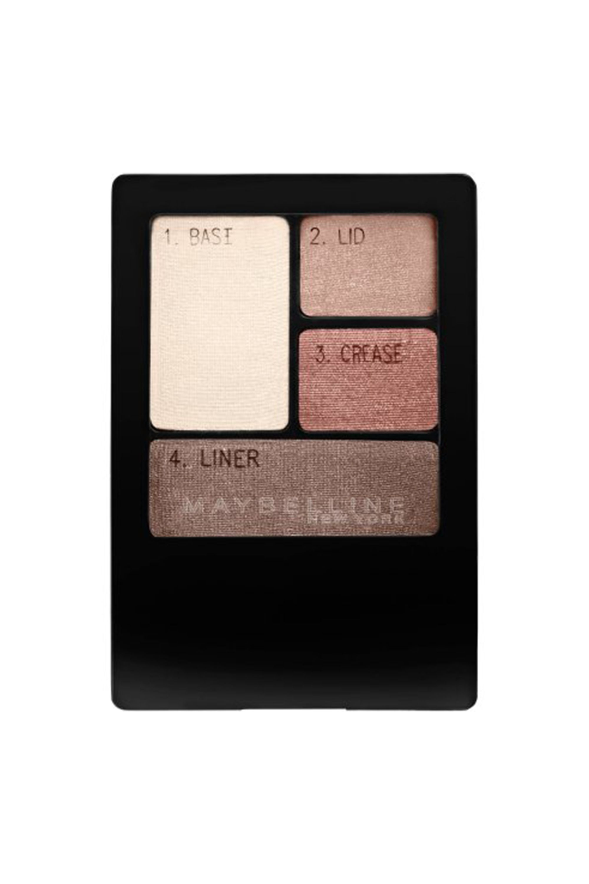 "<p>A smoky eye with charcoal grays and black is classic but can be a bit harsh against pale blue eyes. Turnbow suggests trying a softer, more flattering alternative with a spectrum of warm neutrals.</p><p>Maybelline New York Expert Wear Eye Shadow in Natural Smokes; $6.25, <a href=""http://www.ulta.com/expert-wear-eyeshadow-quad?productId=xlsImpprod6340302"" target=""_blank"" data-tracking-id=""recirc-text-link"">ulta.com</a></p>"