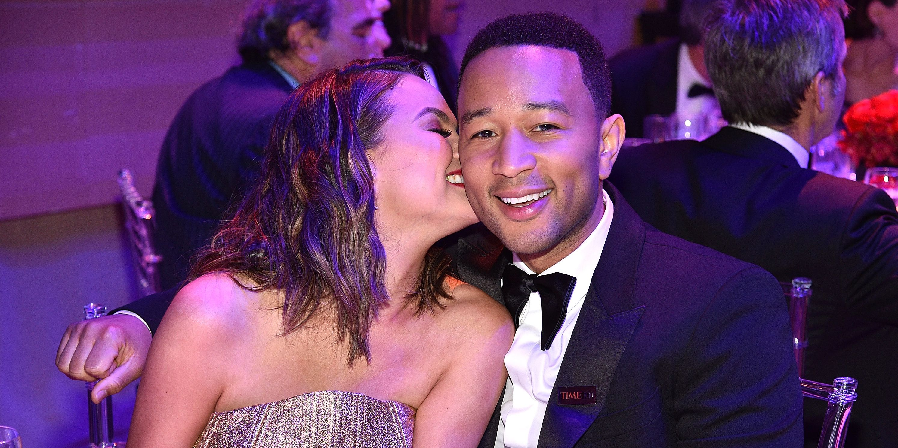 Chrissy Teigen and John Legend attend 2017 Time 100 Gala at Jazz at Lincoln Center on April 25, 2017 in New York City.