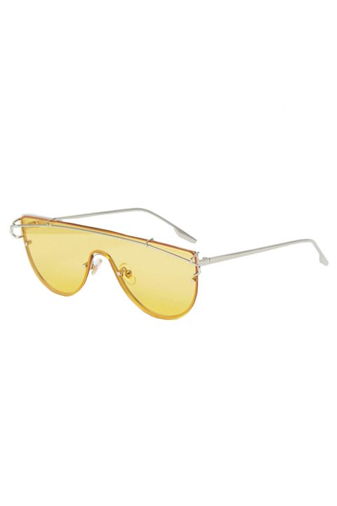 6952d2a48e Asos Jeepers Peepers Yellow Tinted Lens Visor Sunglasses