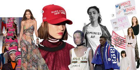 8f787feb813f1 Feminist AF  Jonathan Simkhai  models with signs  Alexander FarnsworthGetty  Images