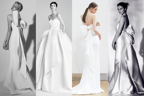 "<p>This Old Hollywood silhouette is back on the rise thanks to seasoned brands like Viktor &amp; Rolf, Carolina Herrera, and Oscar de la Renta. The extra large bows decorated ball gowns and sheath dresses alike for chic simplicity with mass appeal.&nbsp;</p><p><em data-redactor-tag=""em"" data-verified=""redactor"">Left to right: Carolina Herrera, Viktor &amp; Rolf, Oscar de la Renta,&nbsp;Rivini</em></p><p><em data-redactor-tag=""em"" data-verified=""redactor""></em> </p><p><em data-redactor-tag=""em"" data-verified=""redactor""></em></p><p><em data-redactor-tag=""em"" data-verified=""redactor""><span class=""redactor-invisible-space"" data-verified=""redactor"" data-redactor-tag=""span"" data-redactor-class=""redactor-invisible-space""></span></em></p>"