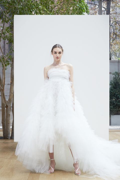 The Best Dresses, Ball Gowns, and Jumpsuits From Spring 2018 Bridal Week