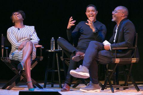 Chimamanda Adichie, Trevor Noah and Chris Jackson