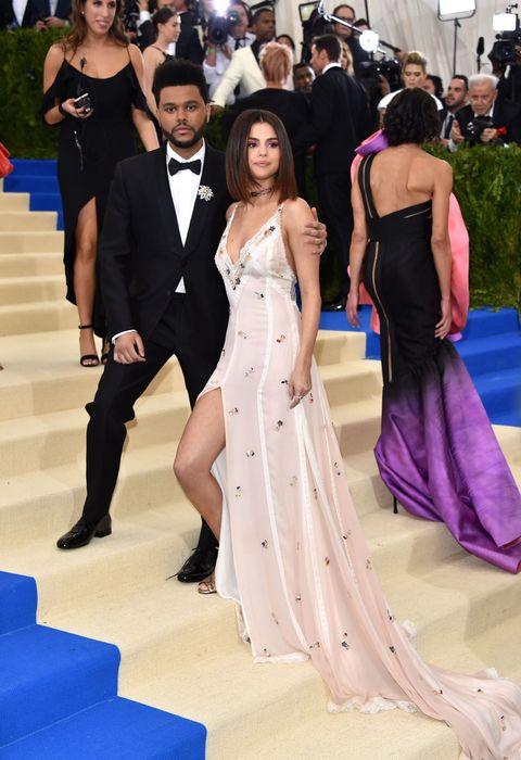4a34e49d5ed Selena Gomez and The Weeknd Walk the Met Gala Red Carpet - Selena ...