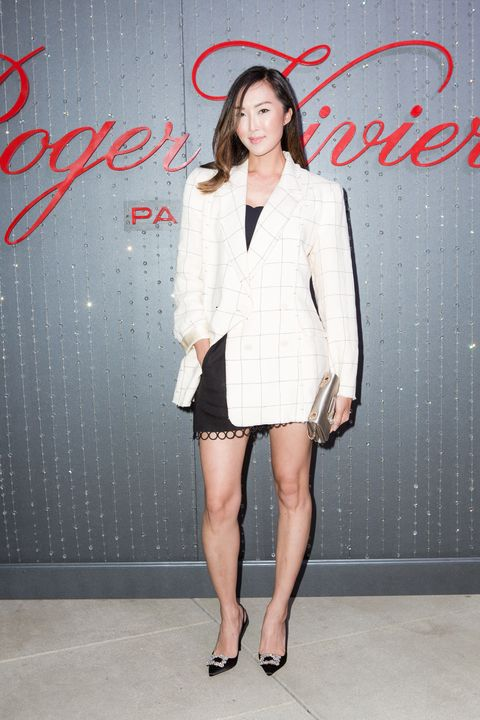 "<p>At a celebration for Roger Vivier's Strass Buckle at the Proper in Hollywood on May 4, 2017.<span class=""redactor-invisible-space""></span></p>"