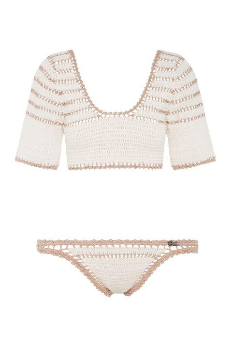 "<p>She Made Me Sana Crop Crochet Bikini Top, $190; <a href=""http://shop.shemademe.com.au/new-arrivals/sana-crop-crochet-bikini-top.html"">shemademe.com</a></p><p>She Made Me Sana Cheeky Crochet Bikini Bottom, $140; <a href=""http://shop.shemademe.com.au/bikinibottoms/sana-cheeky-crochet-bikini-bottom.html"">shemademe.com</a></p>"