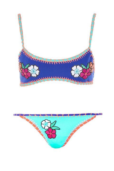 "<p>Topshop Embroidered Crochet Bikini Top, $50; <a href=""http://shop.nordstrom.com/s/topshop-embroidered-crochet-bikini-top/4652311?origin=keywordsearch-personalizedsort&amp;fashioncolor=BLUE%20MULTI"">topshop.com</a></p><p>TopShop Embroidered Crochet Bikini Bottoms, $30; <a href=""http://shop.nordstrom.com/s/topshop-embroidered-crochet-bikini-bottoms/4652310?origin=keywordsearch-personalizedsort&amp;fashioncolor=BLUE%20MULTI"">topshop.com</a></p>"