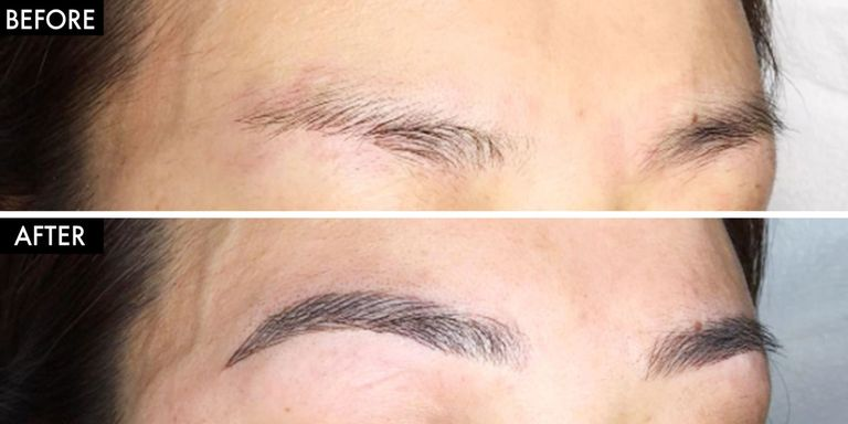 What is eyebrow microblading how to get semi permanent for Powder eyebrow tattoo