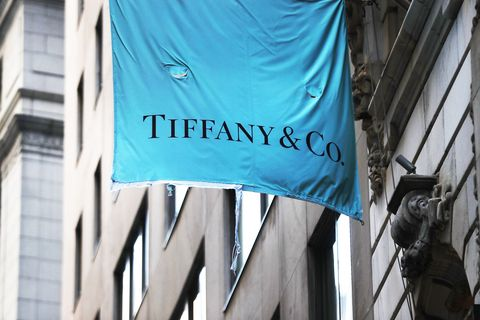 A Tiffany & Co. flag hangs outside of a store in lower Manhattan on February 6, 2017 in New York City.
