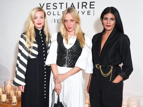 "<p>At the Chloë Sevigny and Kate Foley launch of Vintage on Vestiaire Collective<span class=""redactor-invisible-space"" data-redactor-tag=""span"" data-redactor-class=""redactor-invisible-space"" data-verified=""redactor"">&nbsp;on May 10, 2017&nbsp;<span class=""redactor-invisible-space"" data-verified=""redactor"" data-redactor-tag=""span"" data-redactor-class=""redactor-invisible-space"">in New York City. </span></span><span class=""redactor-invisible-space"" data-verified=""redactor"" data-redactor-tag=""span"" data-redactor-class=""redactor-invisible-space""></span></p>"