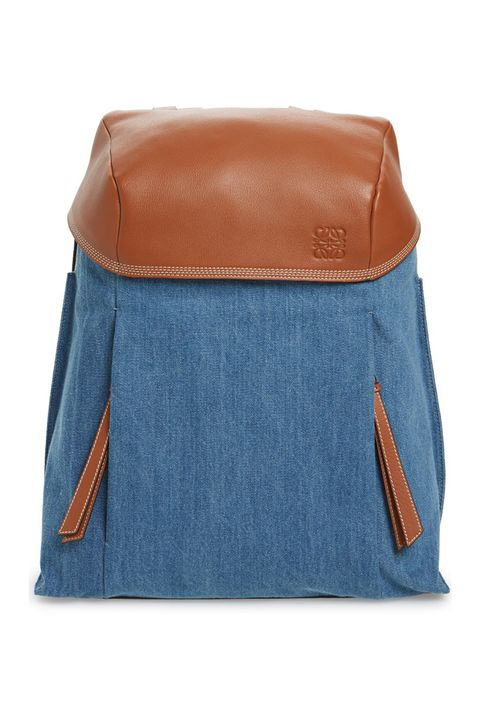 776d09bc0c9983 Loewe T Small Denim & Leather Backpack, $2,350; nordstrom.com