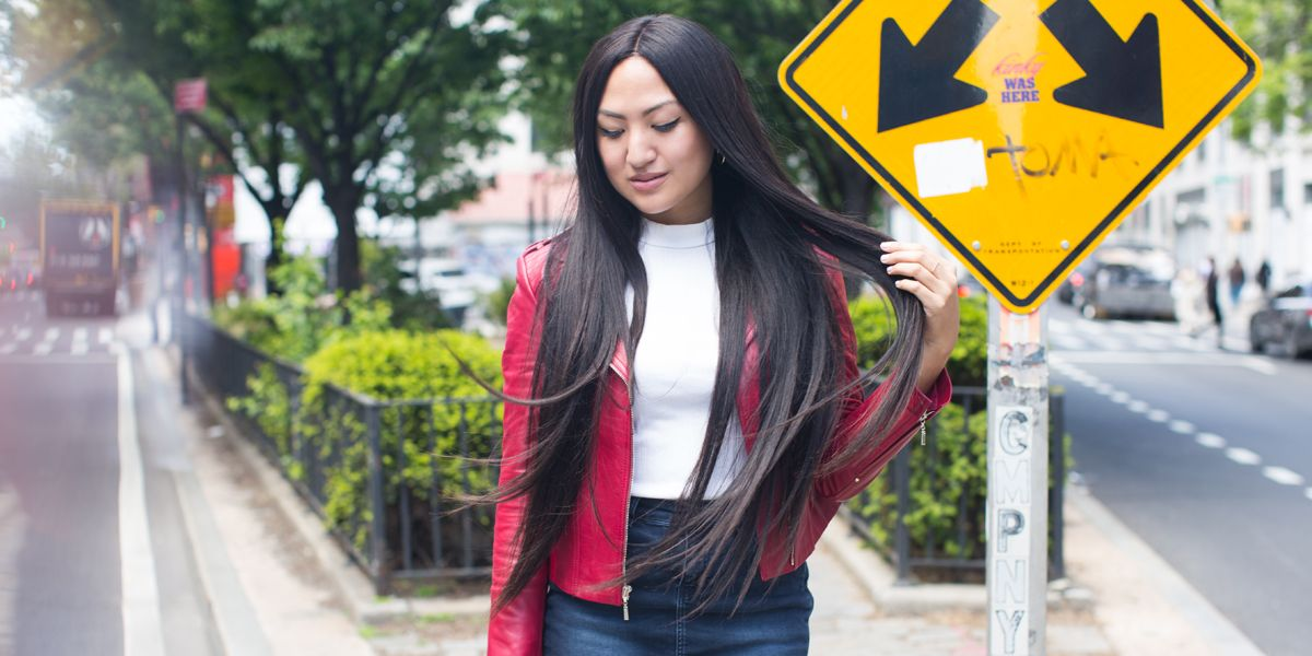Celebrity Extra Long Straight Hair Trend I Tried Kim Kardashian