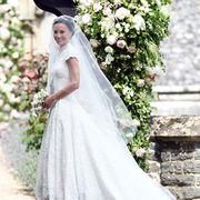 Wedding dress, Gown, Bride, Dress, Clothing, Photograph, Bridal clothing, Veil, White, Bridal accessory,
