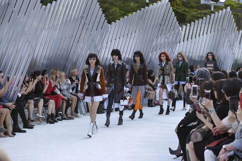 Fashion, Runway, Fashion show, Crowd, Event, Public event, Footwear, Spring, Fashion model, Tourism,
