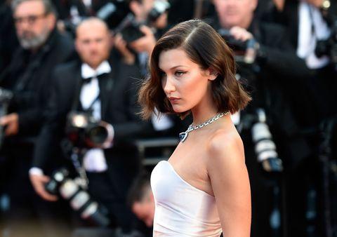 066c16b8e99ab Bella Hadid Is Not Afraid of a Wardrobe Malfunction at Cannes Film Festival