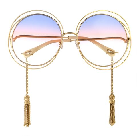"<p><span><a href=""https://www.net-a-porter.com/us/en/product/877631/Chloe/exclusive-carlina-round-frame-gold-tone-sunglasses"" data-tracking-id=""recirc-text-link"">Carlina round-frame gold-tone sunglasses, $525</a></span></p>"