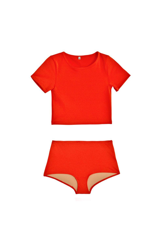 Baserange Fire Red Swimsuit, $160; Bonadrag.com