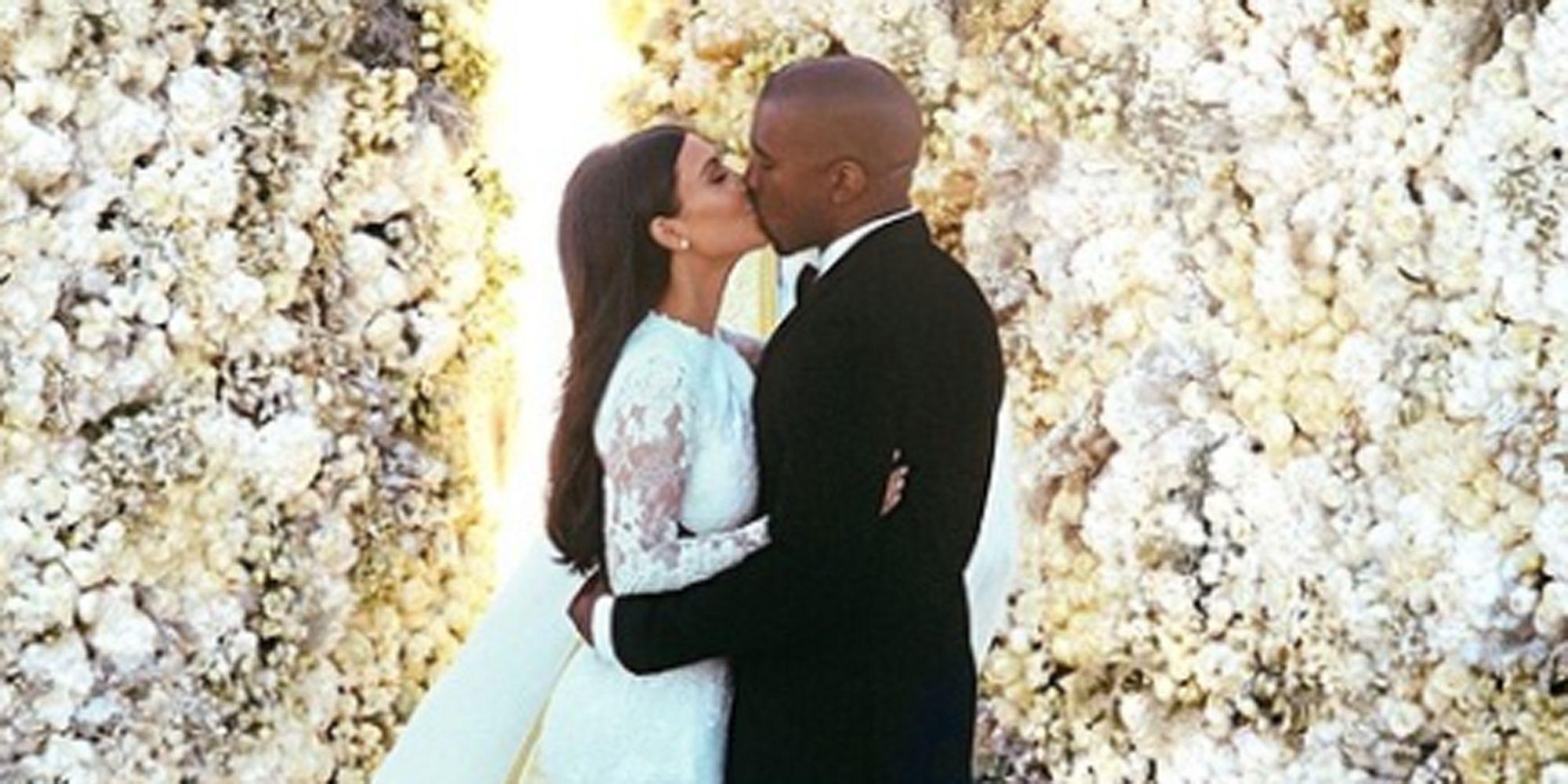 Kim Kardashian Shares Wedding Dress Fitting Photos For Third Anniversary