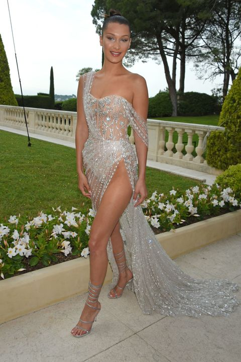 Bella Hadid Wears Sparkly Naked Dress to amfAR Gala 2017 - Bella ...