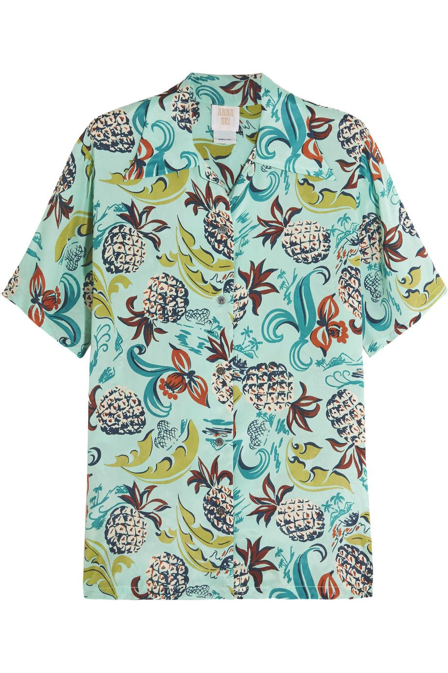 """<p> Anna Sui Printed Crepe de Chine Shirt, $162; <a href=""""https://www.theoutnet.com/en-US/Shop/Product/Anna-Sui/Printed-crepe-de-chine-shirt/721293"""">theoutnet.com</a><span class=""""redactor-invisible-space"""" data-verified=""""redactor"""" data-redactor-tag=""""span"""" data-redactor-class=""""redactor-invisible-space""""></span></p>"""