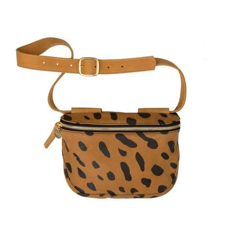 "<p>Clare V Fannypack, $289; <a href=""https://www.clarev.com/products/fannypack-jaguar-printed""></a><a href=""https://www.clarev.com/products/fannypack-jaguar-printed"">clarev.com</a>&nbsp;<span class=""redactor-invisible-space"" data-verified=""redactor"" data-redactor-tag=""span"" data-redactor-class=""redactor-invisible-space""></span></p>"