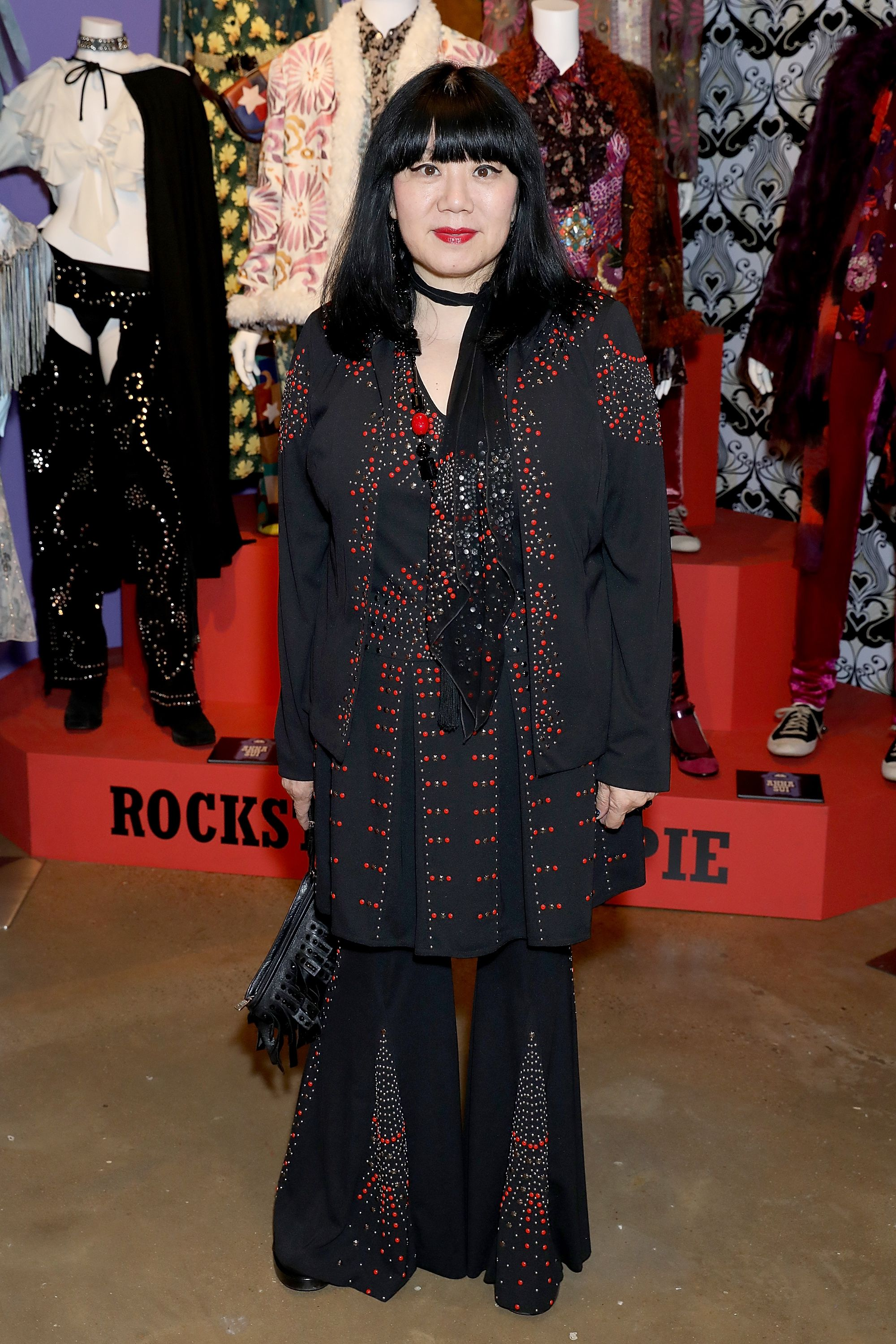 "<p>At the World of Anna Sui Exhibition: Private View at the Fashion and Textile Museum on May 25, 2017 in London<span class=""redactor-invisible-space"" data-verified=""redactor"" data-redactor-tag=""span"" data-redactor-class=""redactor-invisible-space""></span>. </p>"