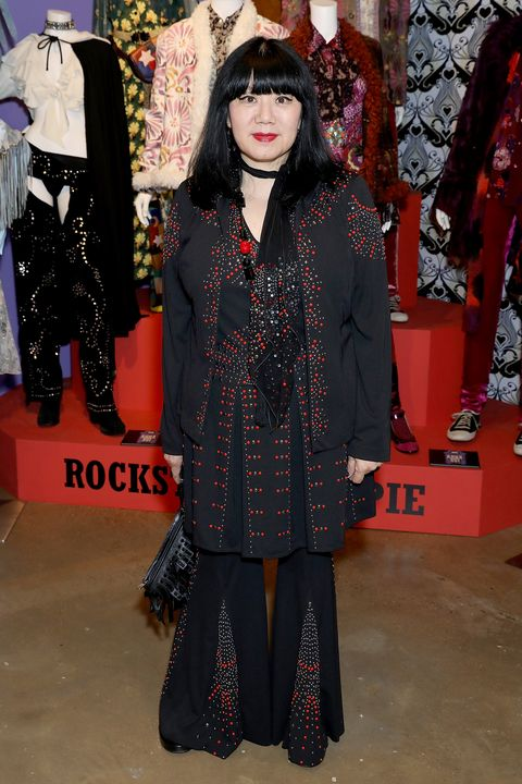 "<p>At the World of Anna Sui Exhibition: Private View at the Fashion and Textile Museum on May 25, 2017 in London<span class=""redactor-invisible-space"" data-verified=""redactor"" data-redactor-tag=""span"" data-redactor-class=""redactor-invisible-space""></span>.&nbsp;</p>"