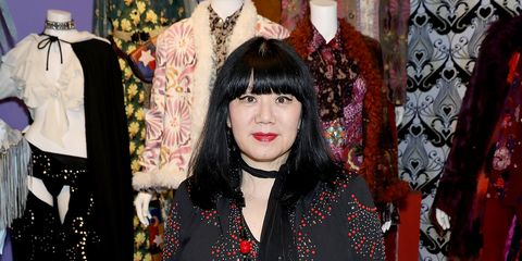 """<p>At the World of Anna Sui Exhibition: Private View at the Fashion and Textile Museum on May 25, 2017 in London<span class=""""redactor-invisible-space"""" data-verified=""""redactor"""" data-redactor-tag=""""span"""" data-redactor-class=""""redactor-invisible-space""""></span>.&nbsp;</p>"""