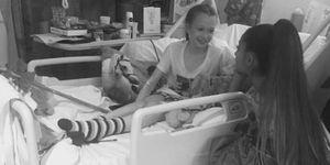Ariana Grande visited fans in hospital