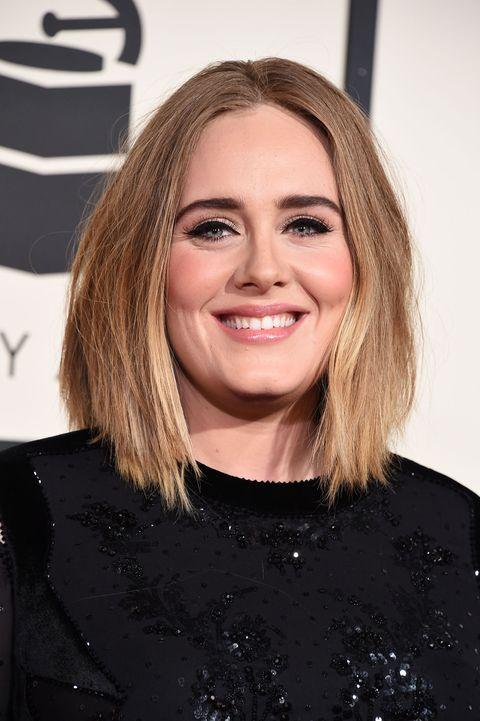Hair, Hairstyle, Eyebrow, Blond, Chin, Smile, Lip, Long hair, Layered hair, Brown hair,
