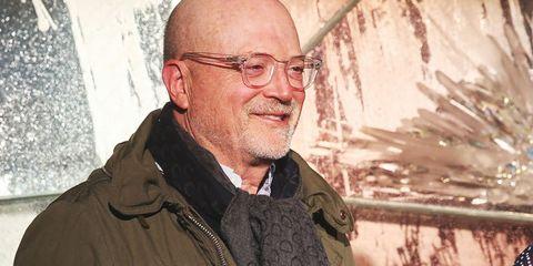 Human, Elder, Glasses, Wrinkle, Facial hair, Portrait, Smile,
