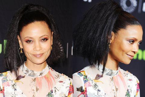 Hair, Head, Ear, Hairstyle, Earrings, Chin, Forehead, Eyebrow, Eyelash, Black hair,