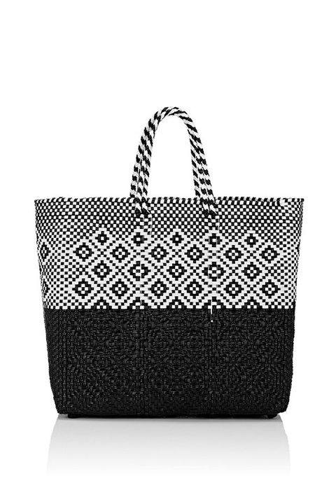 """<p>Marry practicality and style with a woven tote you can take seaside and&nbsp;out afterwards as well.&nbsp;</p><p><em data-redactor-tag=""""em"""" data-verified=""""redactor"""">Truss Woven Medium Tote Bag, $180; </em><a href=""""http://www.barneys.com/product/truss-woven-medium-tote-bag-504775896.html"""" target=""""_blank"""" data-tracking-id=""""recirc-text-link""""><em data-redactor-tag=""""em"""" data-verified=""""redactor"""">barneys.com</em></a></p>"""