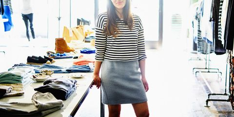 Clothing, White, Black, Pencil skirt, Blue, Street fashion, Fashion, Waist, Yellow, Outerwear,