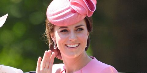 Kate Middleton trooping the colour in pink Alexander McQueen
