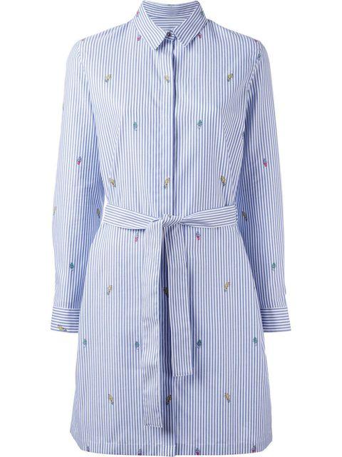 Clothing, White, Blue, Collar, Sleeve, Outerwear, Dress shirt, Shirt, Coat, Button,