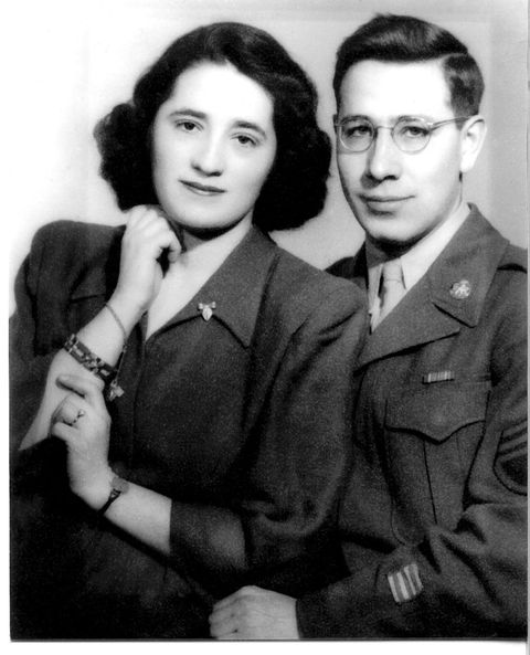 """<p>A year later, she met a handsome American GI on the street in Budapest named Gerson Leiber. They fell in love, married, and sailed to New York on a """"bride ship,"""" one of the special transports for the foreign wives of American soldiers, to begin their new lives in the United States. Gerson Leiber is an abstract impressionist painter and sculptor whose work is in more than 50 museums, including the MoMA and the Whitney. The Leibers have been married for over 70 years, and live in East Hampton, where he has a studio. And the couple keeps future artisans in mind: they fund a scholarship for accessories design majors at the Fashion Institute of Technology.</p>"""