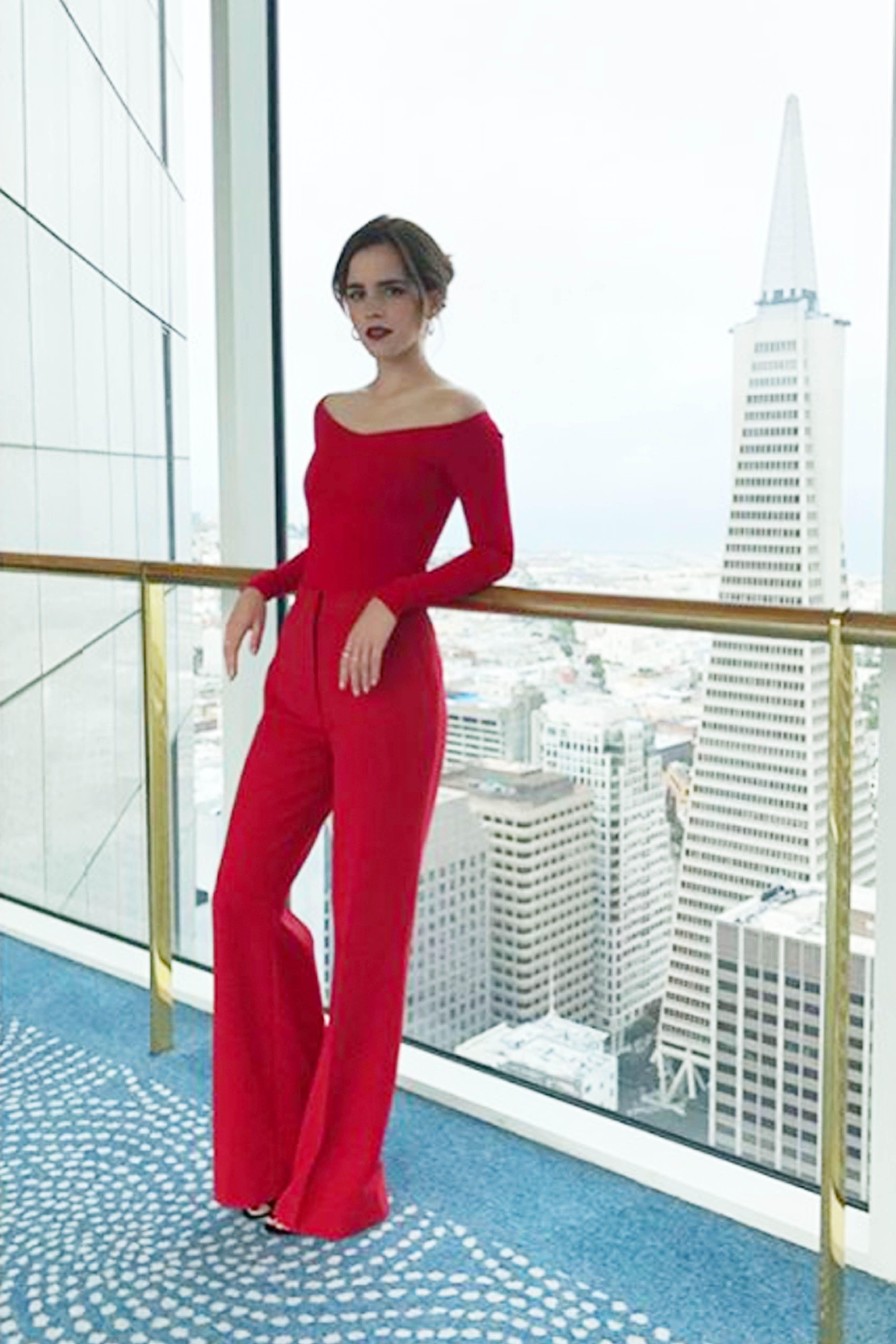 Emma Watson In Blue Flower Gown In Paris Emma Watson Fashion Photos