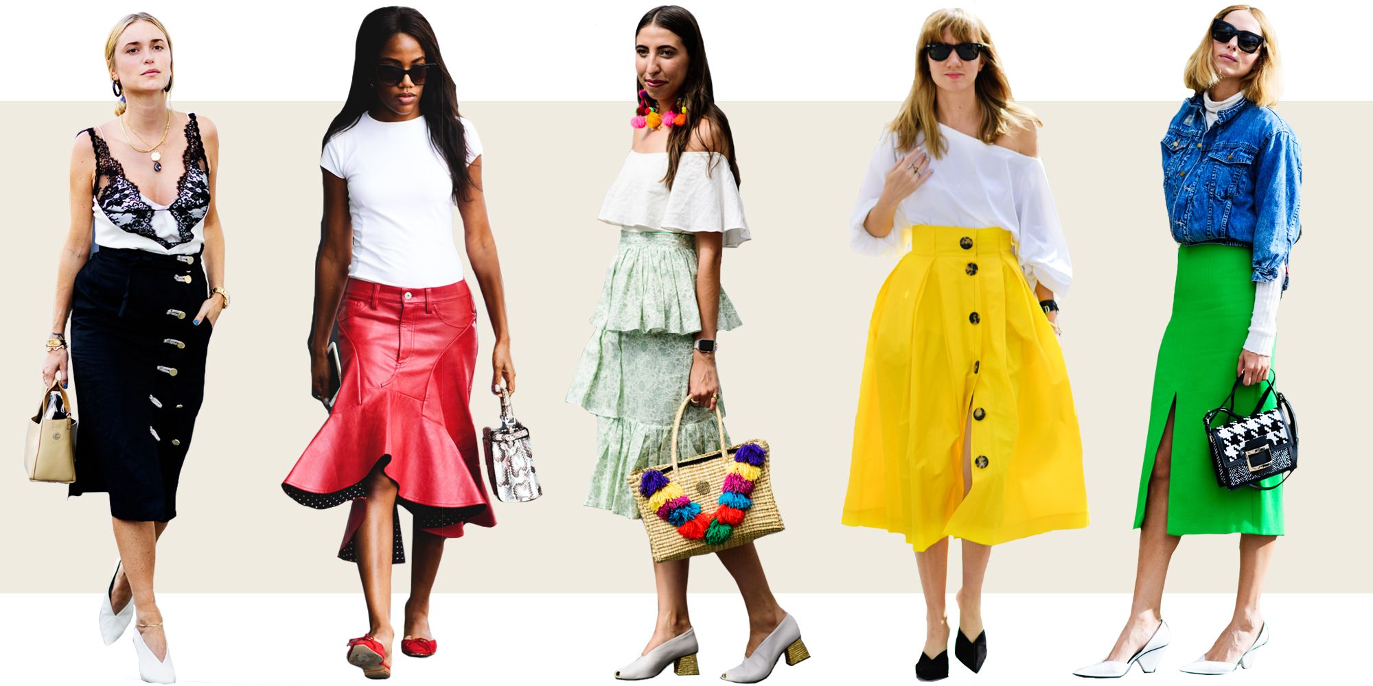 10 Midi Skirt Styles For Spring 2016 Ways To Wear A Midi Skirt