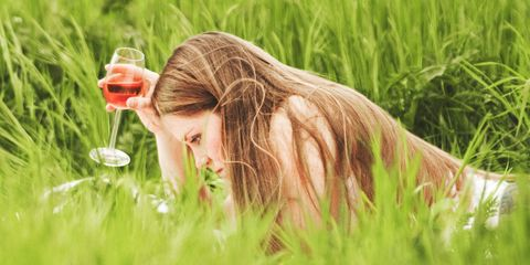 People in nature, Hair, Nature, Grass, Meadow, Grass family, Happy, Blond, Long hair, Plant,