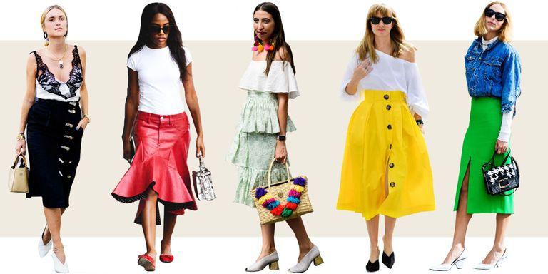 10 Midi Skirt Styles For Spring 2016 Ways To Wear A Midi