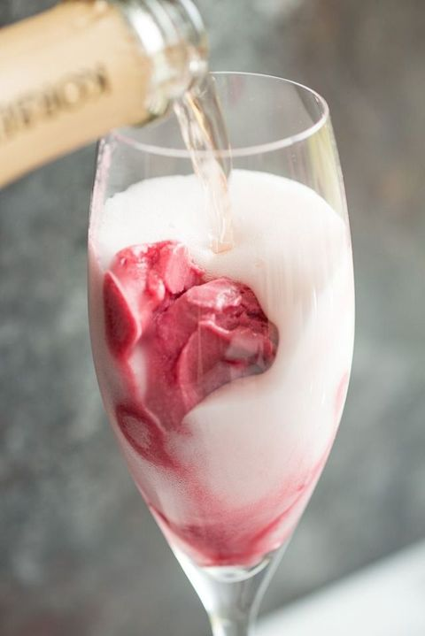 "<p>For a grown-up sorbet treat, try topping off your favorite scoop with some bubbly. Drink up and then get a spoon to finish off the <a href=""http://www.elledecor.com/life-culture/food-drink/a5367/daniel-bouluds-ice-cream-sandwich-recipes-a/"" target=""_blank"">creamy dessert</a> that will leave your taste buds tingling.  </p><p><em data-redactor-tag=""em""><em data-redactor-tag=""em""></em><a href=""http://www.foxandbriar.com/rose-raspberry-sorbet-mimosa/"" target=""_blank"">Via Fox and Briar</a></em><em data-redactor-tag=""em""><a href=""http://www.foxandbriar.com/rose-raspberry-sorbet-mimosa/"" target=""_blank""></a></em><a href=""http://www.foxandbriar.com/rose-raspberry-sorbet-mimosa/"" target=""_blank""></a></p>"