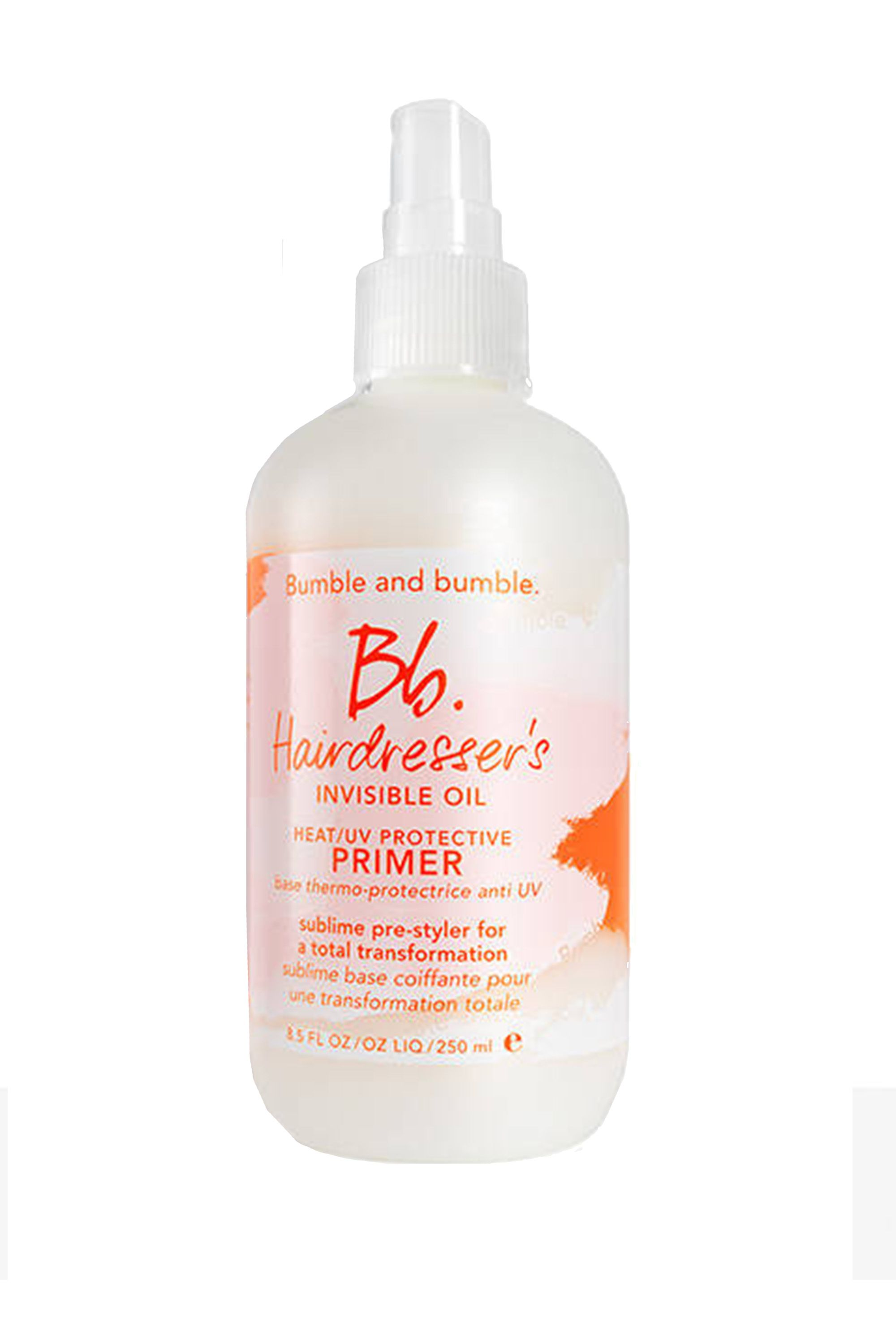"""<p>If you're planning on piling on the products, consider starting with a solid foundation, like this primer that's packed with six, count 'em, six oils to smooth, soften, and tame strands while protecting them from UV damage.</p><p>$28, <a href=""""http://www.bumbleandbumble.com/product/19055/31247..."""" data-tracking-id=""""recirc-text-link"""">bumbleandbumble.com</a></p>"""