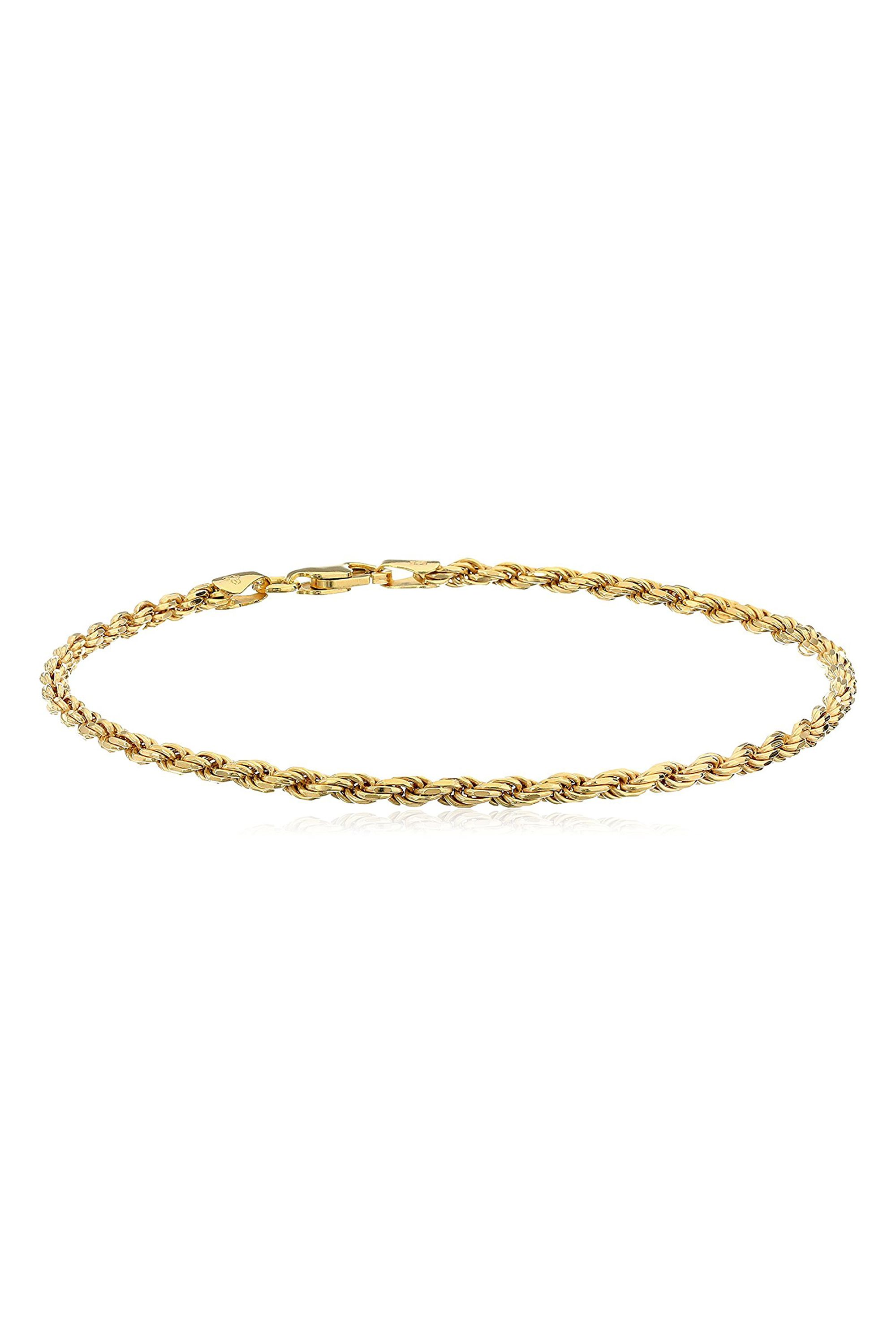 diamond length ankle cut bracelet gold rope color tri pin anklet chain