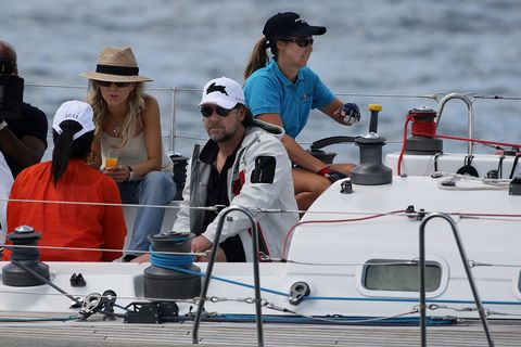 Russell Crowe bored on a boat