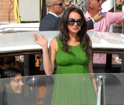 Lindsay Lohan bored on a boat