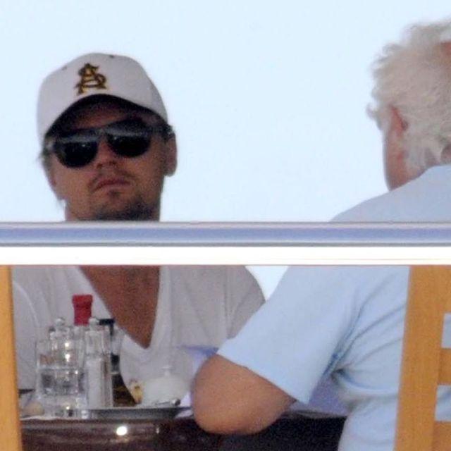 leonardo dicaprio on a boat