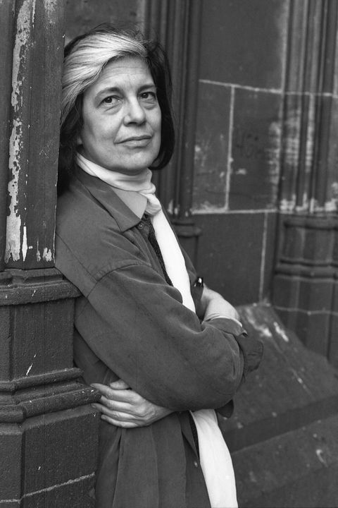 BKFG1W Sontag, Susan, 16.1.1933 - 28.12.2004, American author / writer, half length, May 1993,