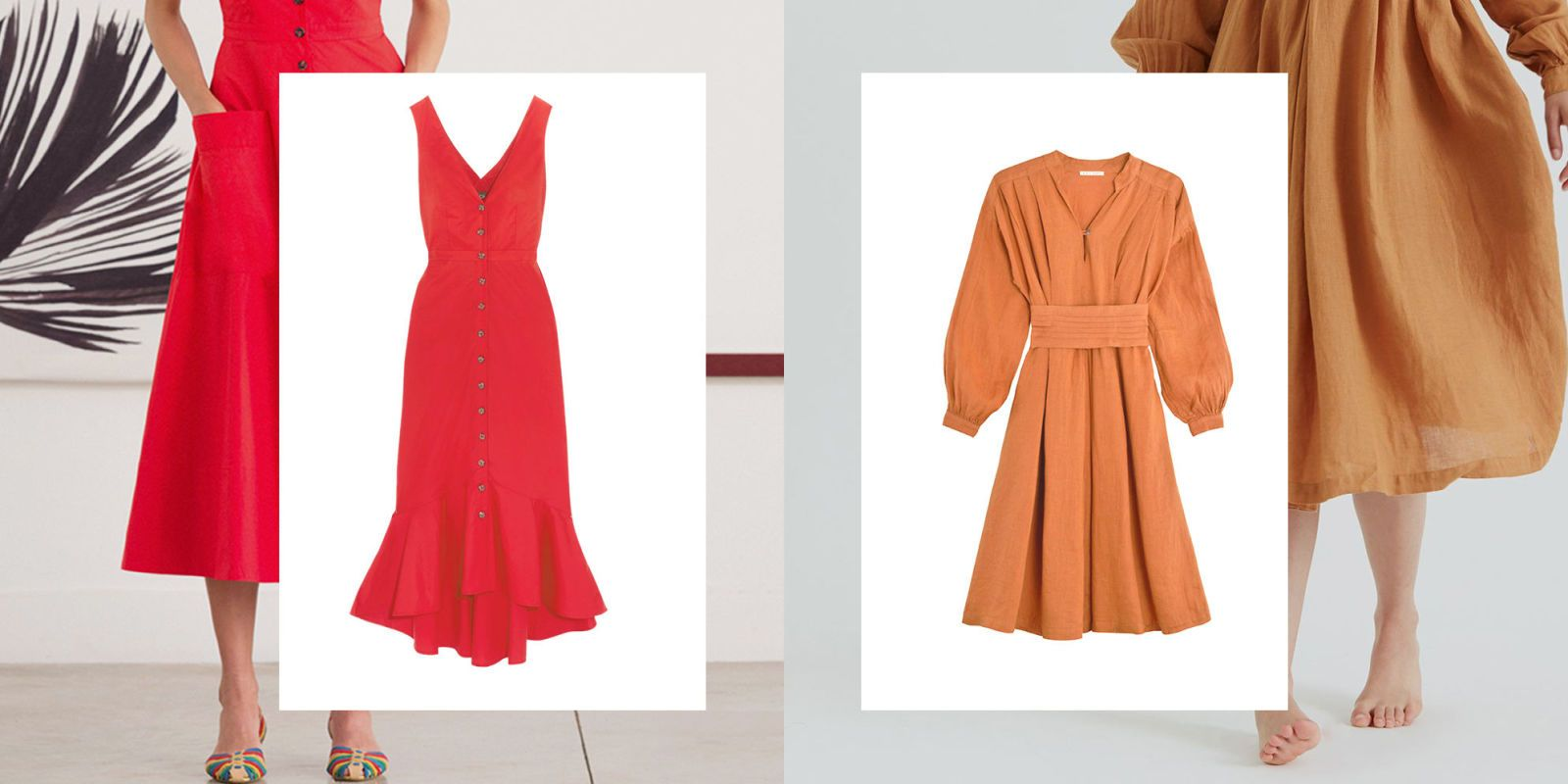 Sun electric red summer dresses
