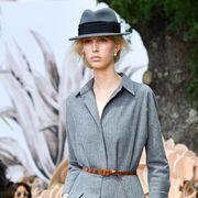 Fashion, Clothing, Fashion model, Runway, Fashion show, Street fashion, Haute couture, Outerwear, Dress, Spring,